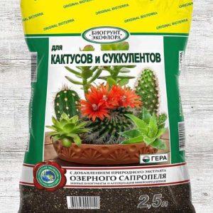 Биогрунт Гера для кактусов и суккулентов